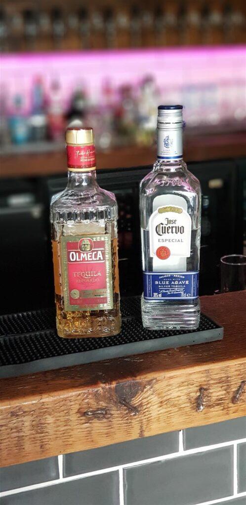 two bottles of spirits